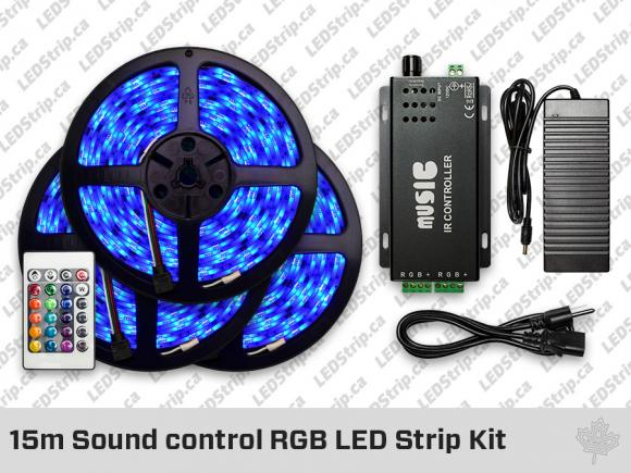 15meter Sound control RGB LED Strip Kit