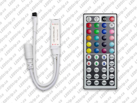 44 Key Remote and Controller for RGB LED Strips