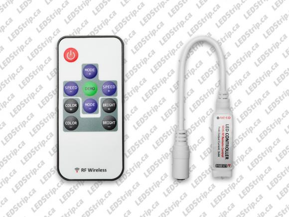 RF Remote and Controller for RGB LED Strips
