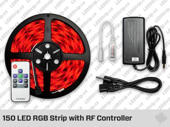 RGB LED Strip with RF Controller (150 LED)