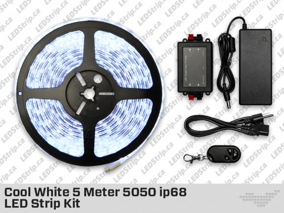 5 Meter Submersible 5050 ip68 300 LED Cool White Strip
