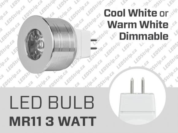 3W MR11 Dimmable LED Spotlight