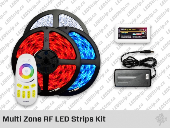 Kit Multi Zone RF, Rubans et Ampoules LED RGBW