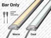 1m Single Color 5050 Rigid U-shape LED Bar Kit, 72 LEDs