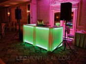 Illuminated booth by DJ Tino