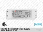 12V Universal Dimmable LED Driver 24W 48W 60W (Class 2)