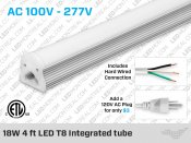 This 18W 4 ft LED T8 Integrated tube from LED Montreal offers you an easy plug and play way to light up your shop, garage or any other area that would require a fluorescent light.