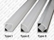 1M V-Shape 45° Aluminium Bar for LED Strips