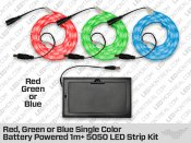Battery Powered Epistar 1 to 5 Meter 3528 LED Strip kit