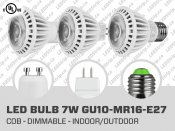 7W CREE Dimmable COB LED Bulb (GU10 E27 MR16)