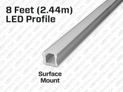 Continuous Lighting Aluminum Profile 8 feet (2.44m)