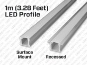 1M U-Shape Rigid Aluminium LED Bar
