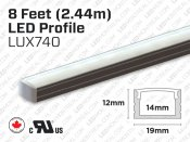 8 foot interior and exterior aluminum profile for LED Strip