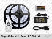 RF Multi Zone Single Color LED Strips and Bulbs Kit
