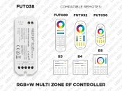 1 to 8 Zones Self repeating RF RGB LED controller (FUT 038)