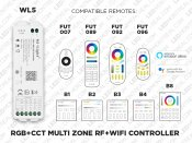 5 in 1 Wi-Fi Controller for LED Strips - Alexa and Google Assistant (WL5)